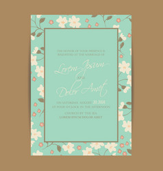 Wedding invitation and save the date cards vector