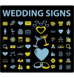 wedding signs vector image vector image