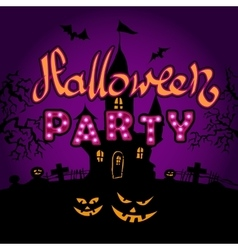 Happy halloween party on violette background vector