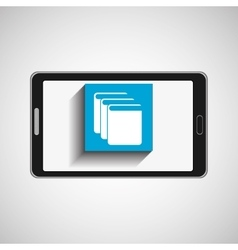 smartphone technology library e-books vector image