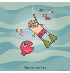 diving card vector image
