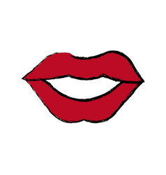 mouth woman lips makeup lipstick vector image
