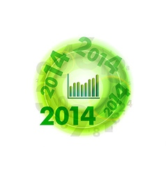 Abstract circle number green up 2014 vector