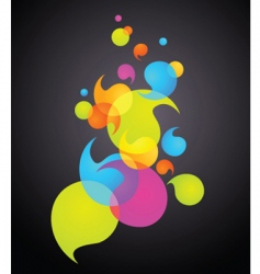 Rainbow bubbles banner vector