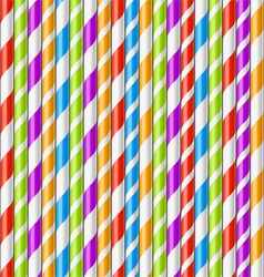 Drinking straws background vector image