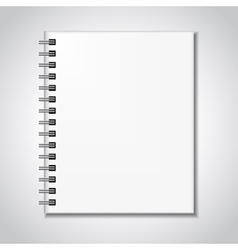 Notebook mock up vector