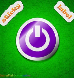 Power switch on turn on icon sign symbol chic vector