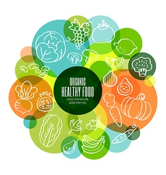 Organic healthy fruits and vegetables vector image