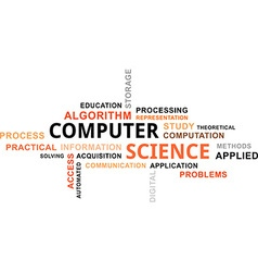 Word cloud computer science vector