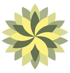 Beautiful lotus flower wheel mandala oriental vector