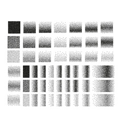Set of 51 square stipple pattern for design tile vector