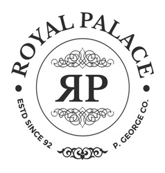 Vintage logo royal palace company vector