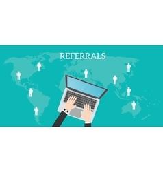 Referrals business location vector