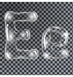 Bubbles letters e vector
