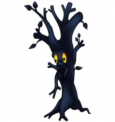 Dark tree vector