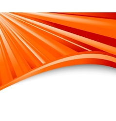 abstract orange ray background vector image