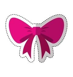 Bow ribbon decorative frame vector