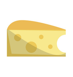 Cheese slice snack icon vector