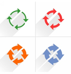 Color arrow refresh rotation reset icon on white vector