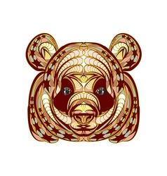 ethnic panda vector image