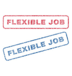 Flexible job textile stamps vector