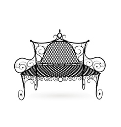 Forged bench front view vector
