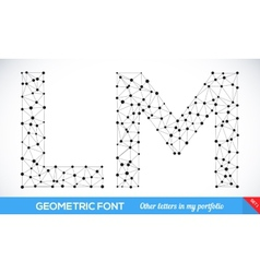 Geometric type font vector image vector image