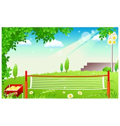 Grass Tennis Court vector image