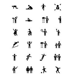 Human icons 7 vector
