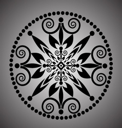 Lace round borders vector image