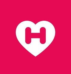 Letter h heart logo icon design template elements vector