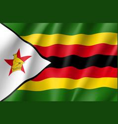 National flag of zimbabwe vector