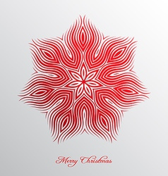 Nice christmas background with abstract snowflake vector