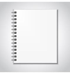 Notebook mock up vector image