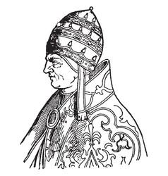 Pope urban v vintage vector