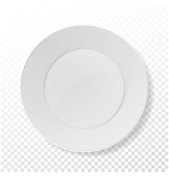 Realistic plate closeup porcelain mock up vector