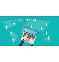 Referrals business location vector