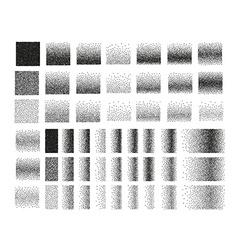 Set of 51 square stipple pattern for design Tile vector image