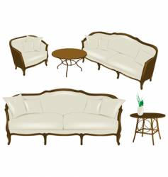 set of antique elements - furniture vector image vector image