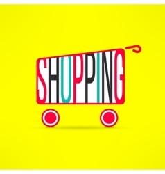 shopping cart symbol Marketing background vector image vector image