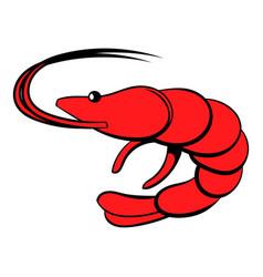 shrimp icon cartoon vector image