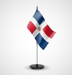 Table flag of dominican republic vector