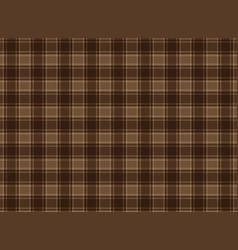 tartan plaid brown vector image vector image