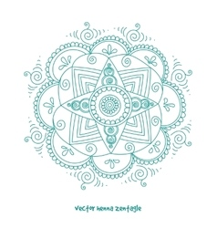 Tattoo henna mandala vector