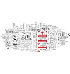 tie word cloud concept vector image