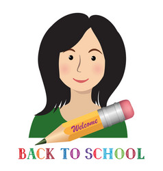 Welcome back to school cheerful smiling little vector
