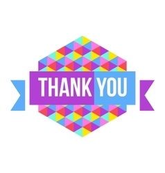 Sign thank you geometric background vector