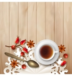 Tea time background vector image
