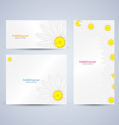 Flowers brochure template vector