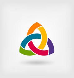 multicolor triquetra symbol vector image